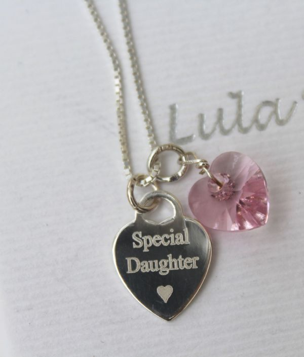 Gift for a daughter - personalised necklace FREE ENGRAVING